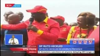 Rowdy youths chant anti-Jubilee slogans forcing DP William Ruto to cut short his rally in Kisumu
