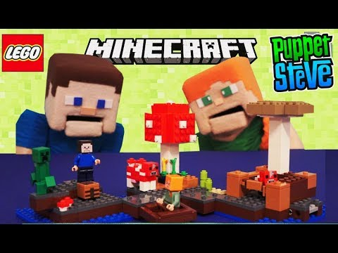 Minecraft LEGO The Mushroom Island 21129 Alex Cow 2017 Building Toy ...