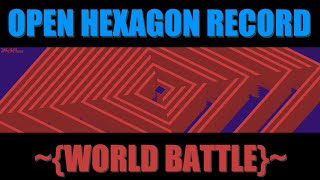 Open Hexagon: World Battle 330 sec, BoshyTime [world record]