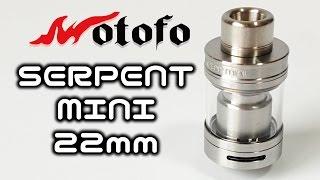 爆煙でVAPE初心者でも簡単?RTA !Wotofo - SERPENT MINI 22mm Review
