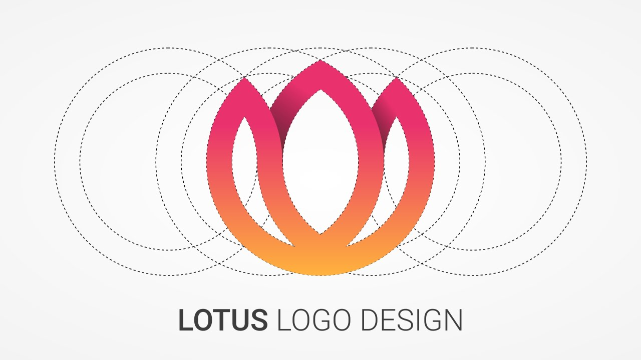 Lotus Logo Design Tutorial with Circular Grid - YouTube