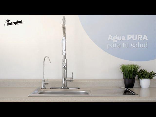 Instalación del Purificador y Alcalinizador de Agua bajo Tarja