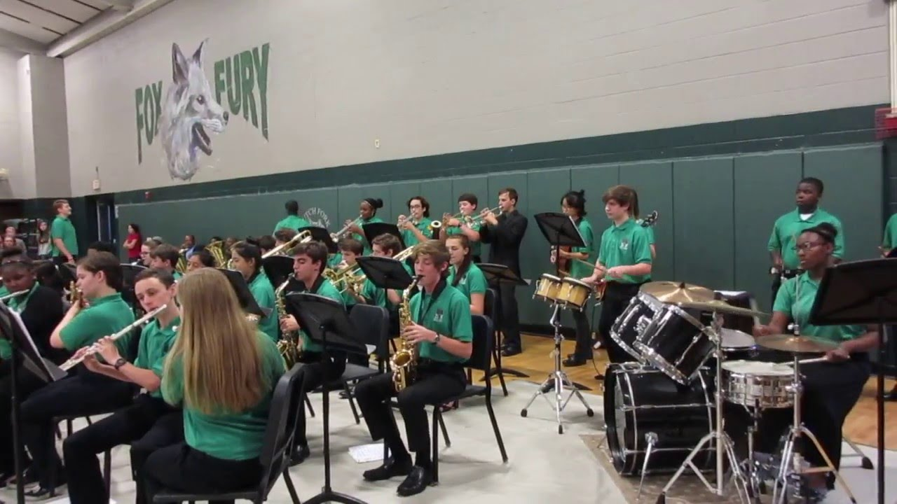 Shalyn Gamble Playing Drum Set For Dutch Fork Middle School Jazz