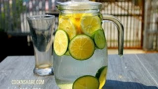 Detox, Infused Water - Lemon, Lime, and Cucumber (Episode 1)