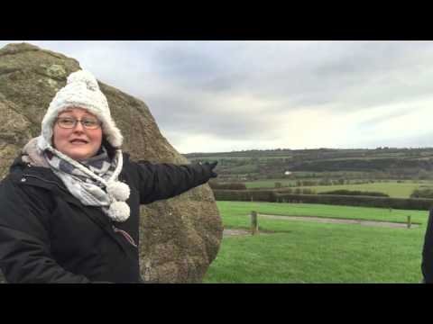 Tour guide at Newgrange. County Meath. Ireland