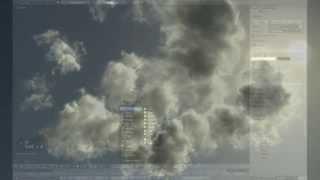 Blender, Cycles - Volumetric Clouds with Smoke Sim.