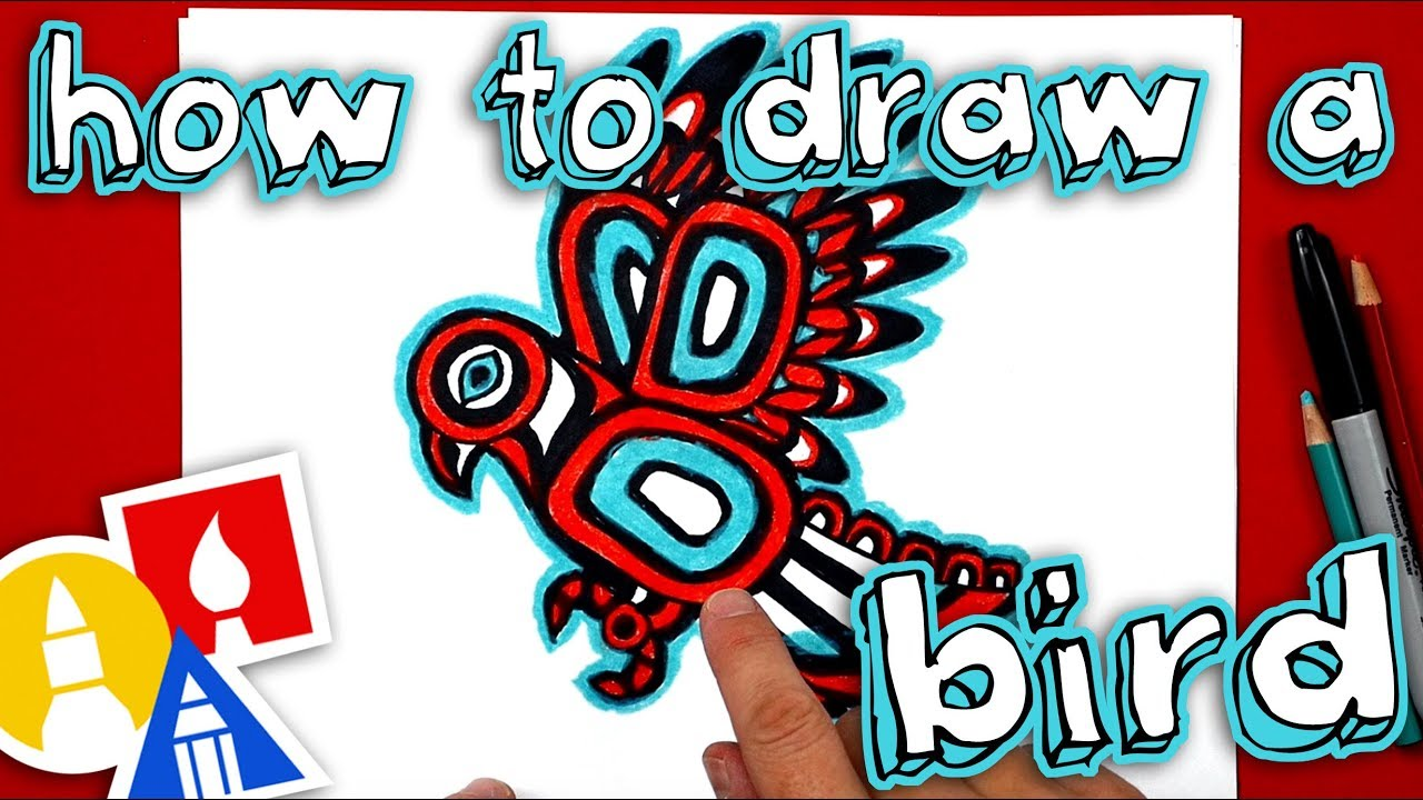 How To Draw A Native American Inspired Bird Youtube