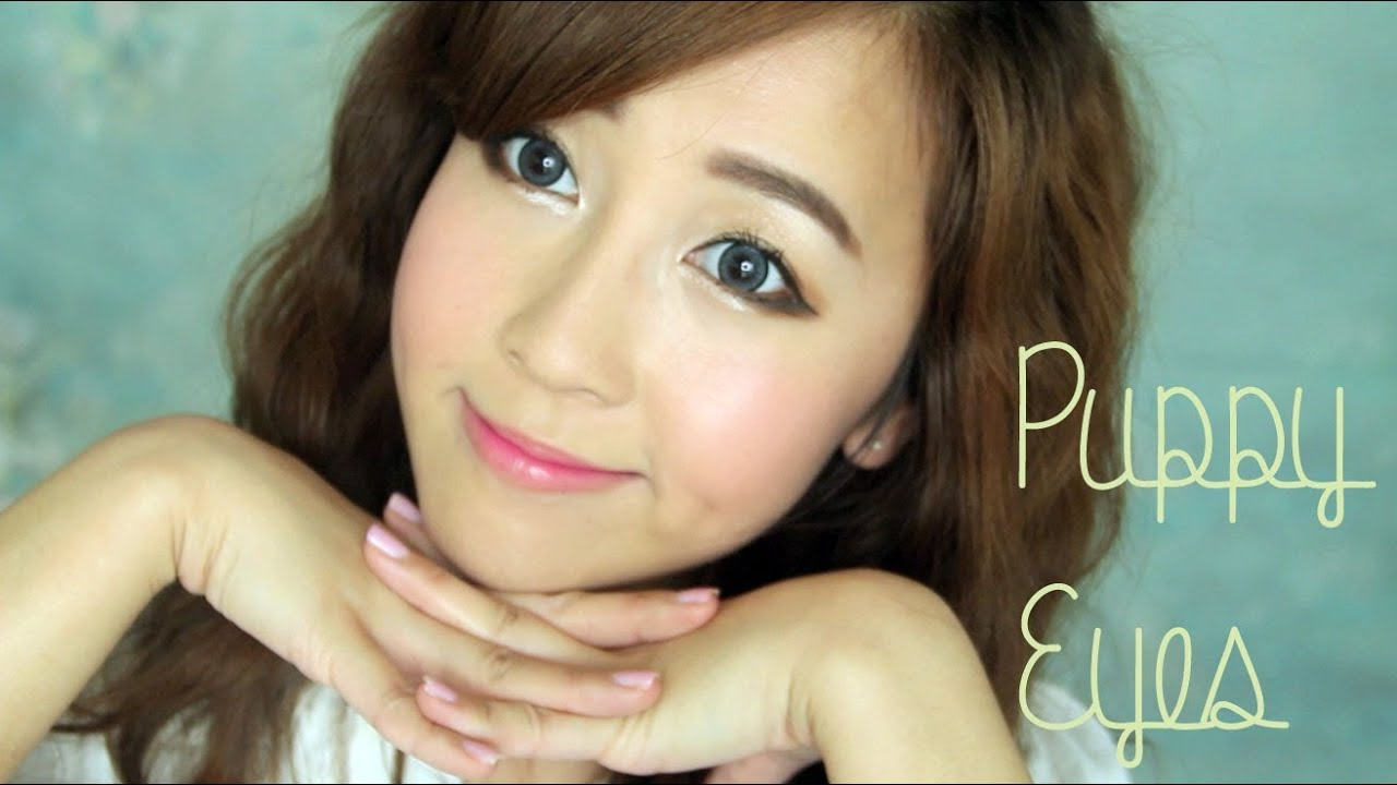 Puppy Eyes Makeup - YouTube
