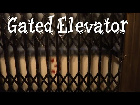 Vintage Gated Traction elevator @ The Post Hotel San Francisco CA