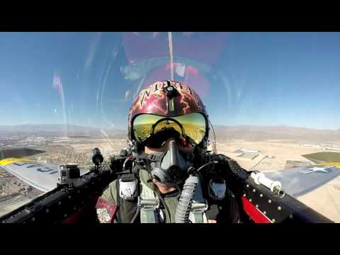 "GoPro: Gregory ""Wired"" Colyer T-33 Shooting Star ""Ace Maker II"" - Nellis AFB Aviation Nation 2016"