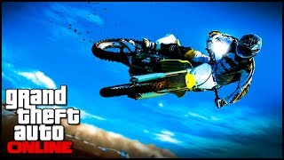 GTA 5 Glitches - How To Stunt Glitch - Bike Glide Glitch - How To Stunt ( GTA 5 Online Glitches )