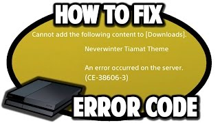 How to Fix Error Code CE-38606-3 on PS4
