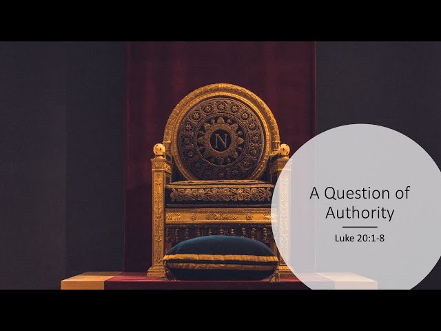 A Question of Authority · 210307 AM · Pastor Jerome Pittman