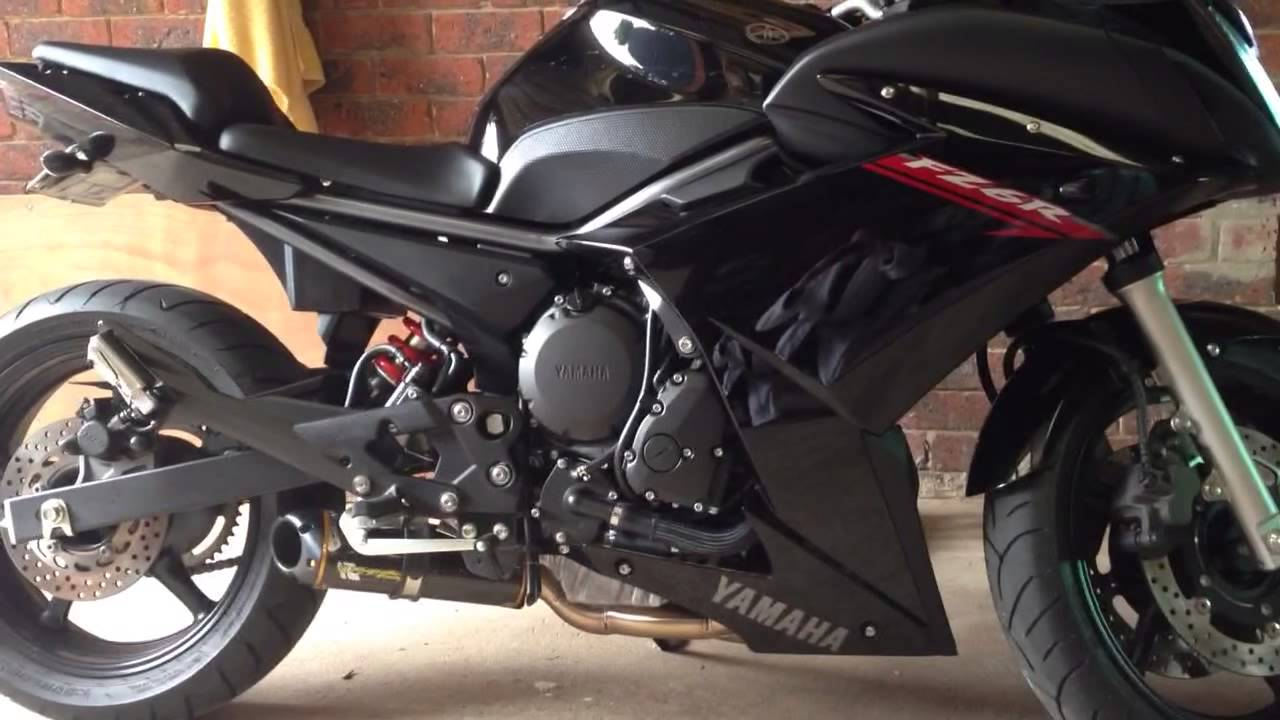 2011 Yamaha FZ6R with two brothers exhaust - YouTube