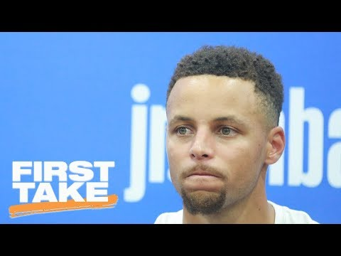 Stephen A. Smith Doesn't Believe Steph Curry Wasn't Mocking LeBron James | First Take | ESPN