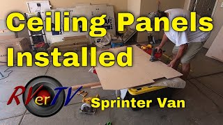 Sprinter Van Build Ceiling Panels
