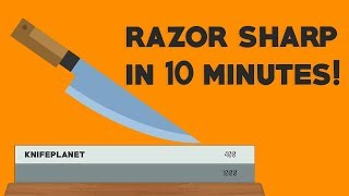 KNIFE SHARPENING OVERSIMPLIFIED: How To Sharpen A Knife on Water Stones in 10 minutes