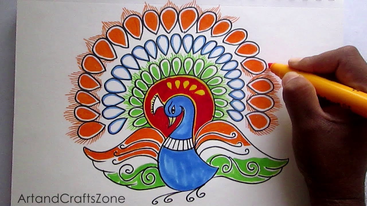 Creative Drawing Happy Republic Day For Kids Youtube