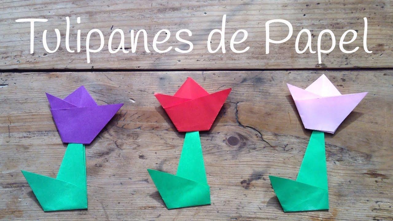 Tulipan De Papel Paso A Paso Origami Fácil Para Niños