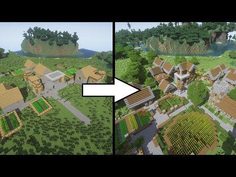 Transforming A Village | Minecraft Timelapse