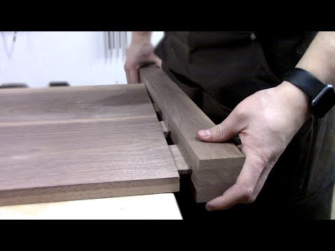Building a Shaker Inspired Solid Walnut Bed - Part 2 | Headboard and Footboard Joinery
