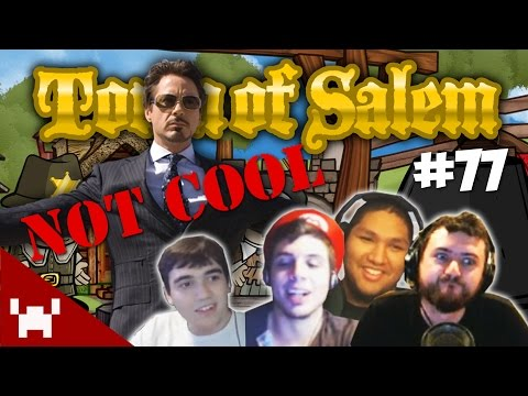 NOT COOL, TONY STARK, NOT COOL! (Town of Salem QUAD FACECAM w/ The Derp Crew Ep. 77)