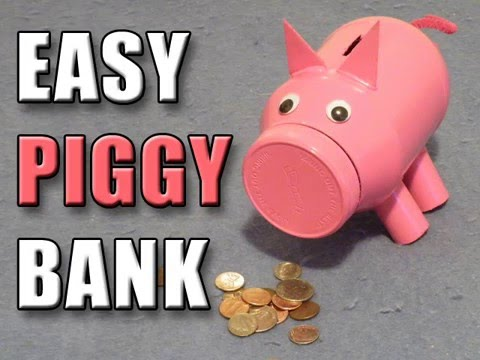 Easy piggy bank youtube for How to make a simple piggy bank
