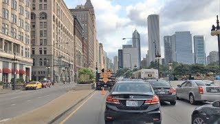 Driving Downtown 4K - Chicago's Main Street - USA