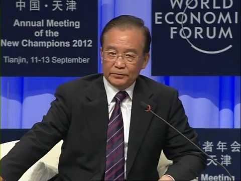 Tianjin 2012 - Opening Plenary with Premier Wen Jiabao