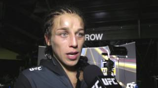 UFC 211: Joanna Jedrzejczyk Backstage Interview