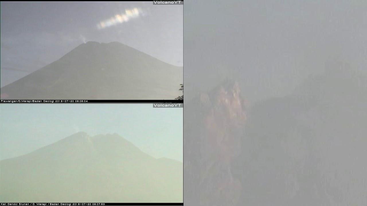 20/7/2018 WITA - Mt Merapi TimeLapse (MultiView)