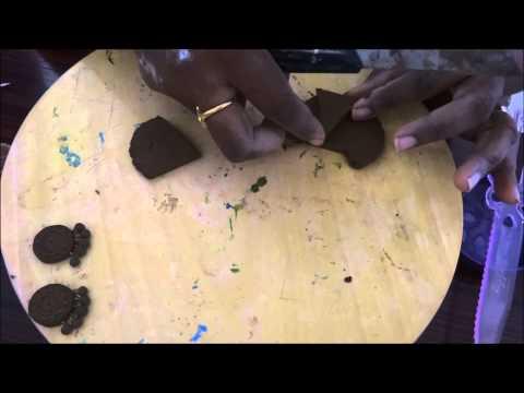 Terra cotta Earrings  - joyería de la arcilla