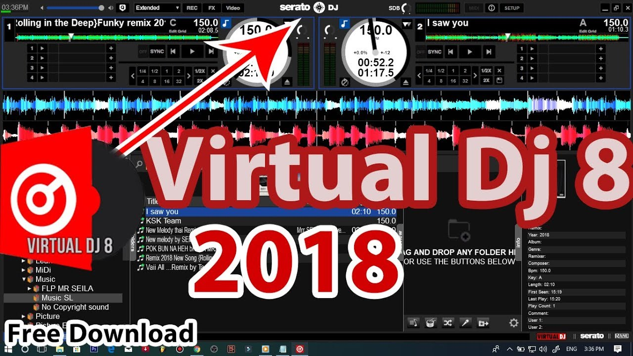 SERATO DJ SKIN v4 2 FOR VIRTUAL DJ 8 2018 Very Easy Working