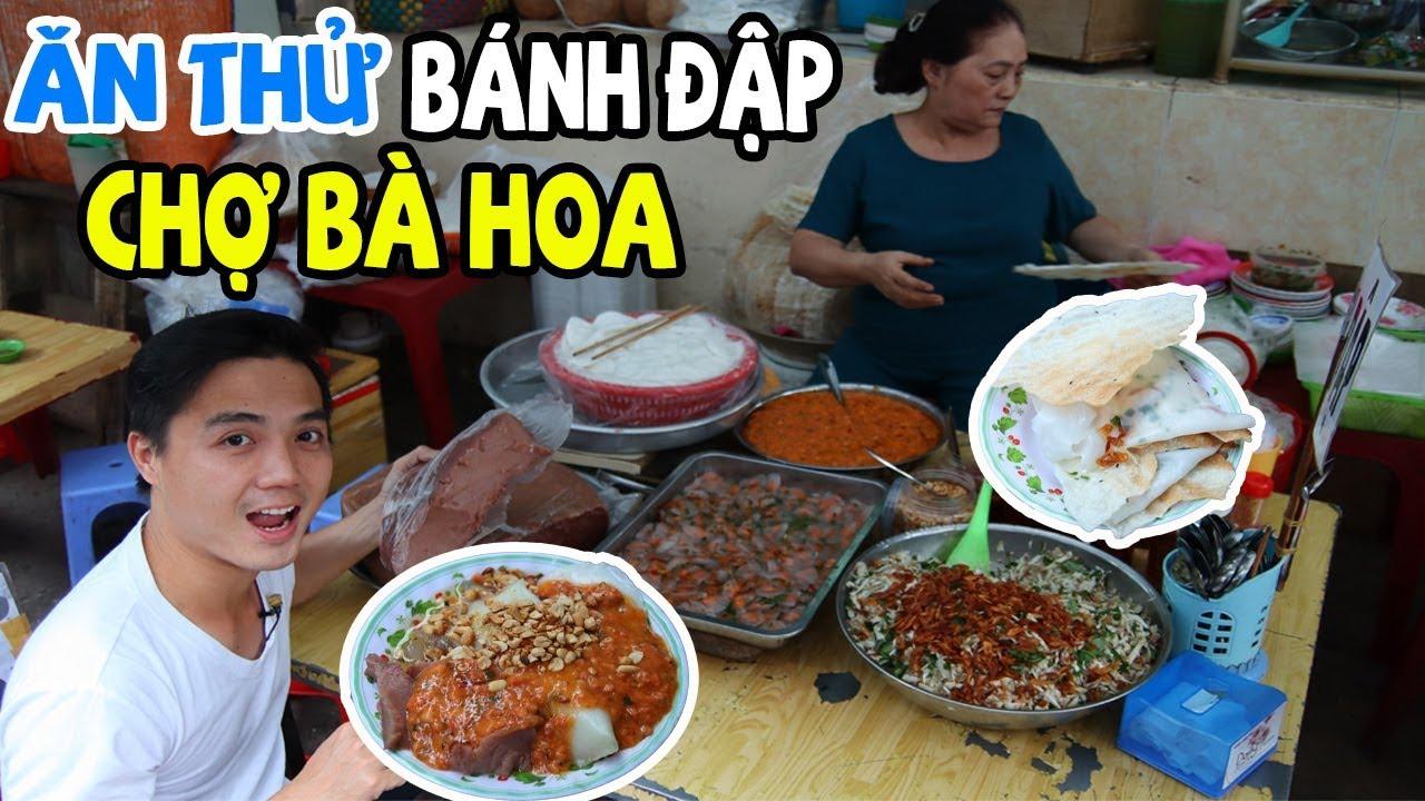 Ăn Thử BÁNH ĐẬP Món Ăn Dân Dã Tại Khu Chợ Bà Hoa Nhận Cái Kết Bất Ngờ | PM FOOD TRAVEL
