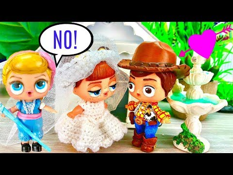LOL Surprise Doll Bo Peep Stops Woody from Marrying Gabby Gabby