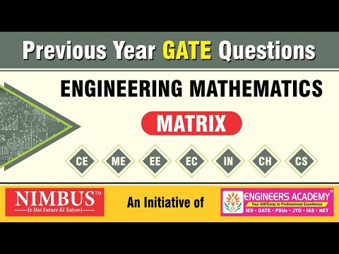 Previous Year GATE Questions | Engineering Mathematics | Matrix-IN | Qns- 98