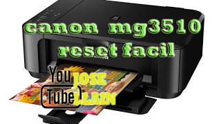 RESET IMPRESORA MG3510 CANON- MUY FACIL
