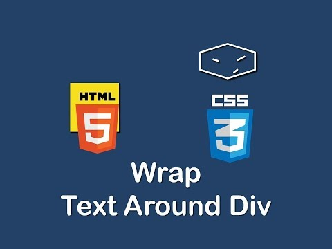 Wrap Text Around Div With Html And Css
