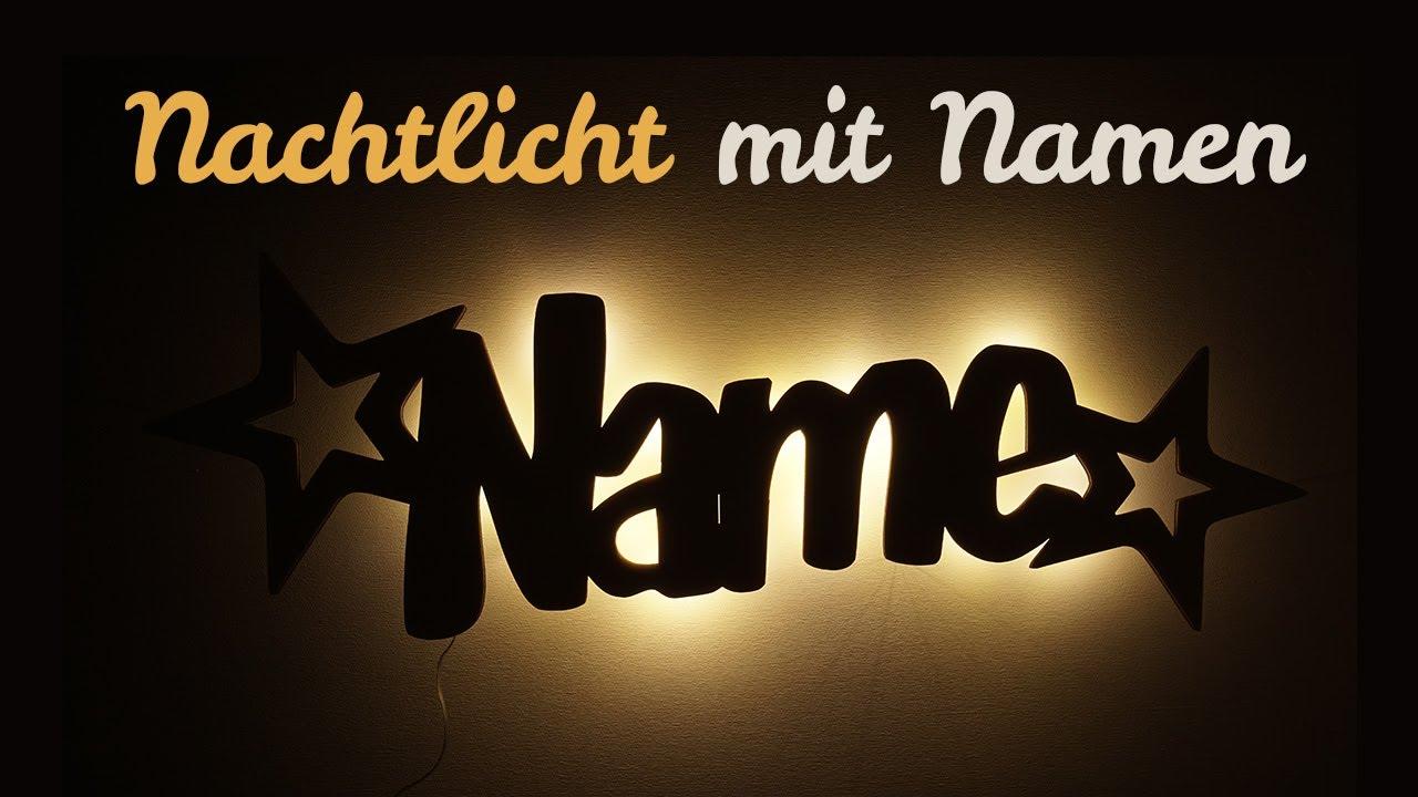 LED Stern Lampe Nachtlicht für Kinder mit Namen ...