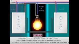 Instalação em Paralelo Interruptor Touch Screen Art Themes com br