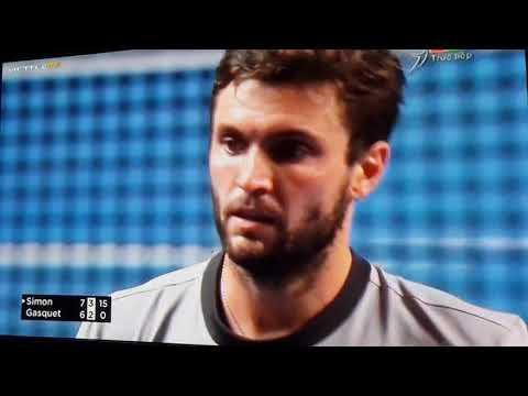 SIMON vs GARQUET Moselle Open 2018 set 2