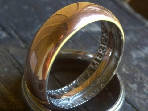 How To Make A Ring With A Coin In Home Amazing Youtube
