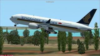 Singapore Airlines Airbus A370 Concept departing from Singapore's Changi Airport