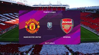 PES 2020 - Manchester United vs Arsenal - Old Trafford - Gameplay PC