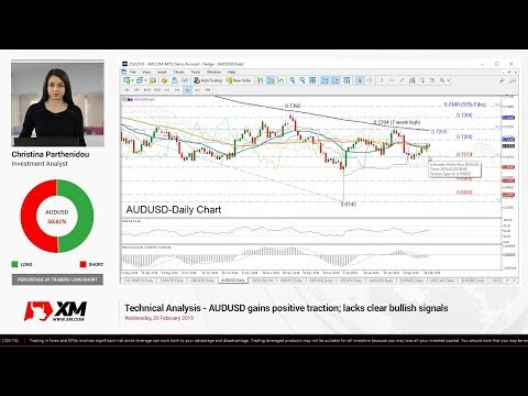Technical Analysis: 20/02/2019 - AUDUSD gains positive traction; lacks clear bullish signals
