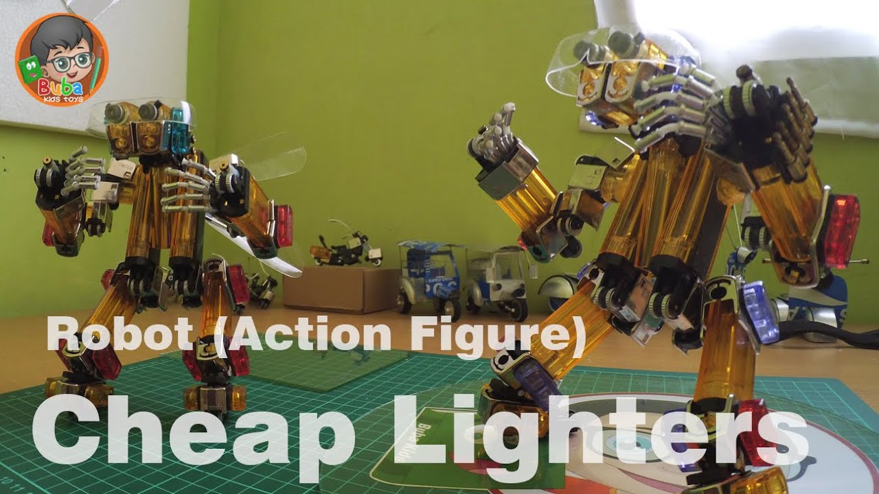 Make a Robot (Action Figure) Out Of Cheap Lighters ...