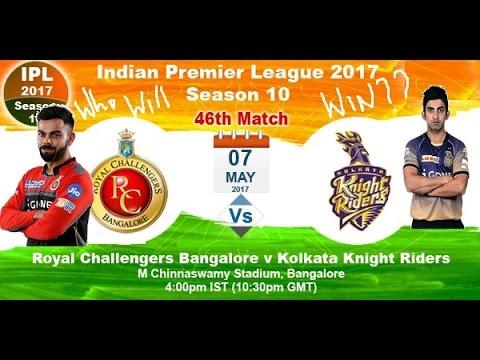 7th may Royal Challengers Bangalore vs Kolkata Knight Riders Wcc 2 2017 Gameplay