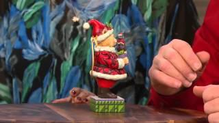 "Jim Shore Heartwood Creek Santa Claws 6"" Figurine With Gabrielle Kerr"