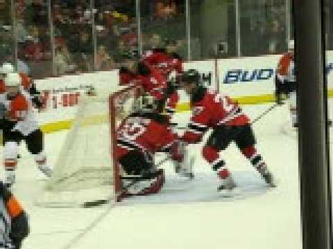 Martin Brodeur Of The New Jersey Devils Rules Youtube