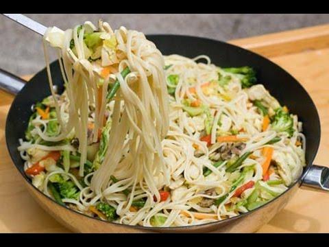Fideos chinos con res y verduras c mo hacer fideos - Como hacer espaguetis al pesto ...
